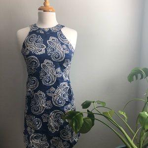 Ann Taylor LOFT Paisley Print Dress with Pockets